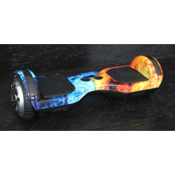 Hoverboard s LED s užitečným madlem , model BLU/RED FIRE